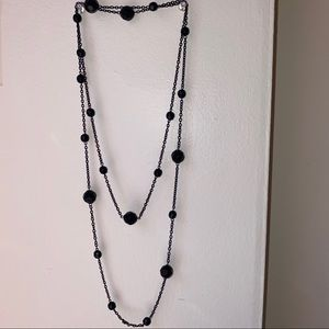 Jewelry - Black Double Wrap Necklace